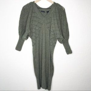 3/$20 Moda International Green Wool Sweater Dress